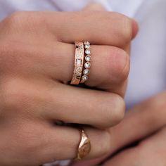 14kt gold and diamond princess deco ring – Luna Skye