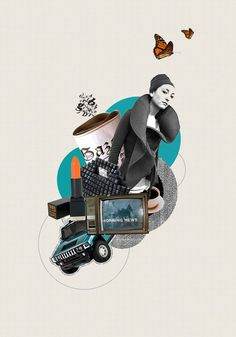 Good Morning Collage by Antigoni Vasilaki, via Behance