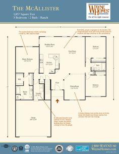 Modern Ranch House Floor Plans: The McAllister | Wayne Homes