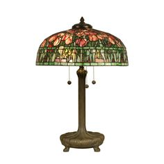 I love this tulip lamp Dale Tiffany TT90423 Tiffany Table Lamp, Antique Verde and Art Glass Shade: Amazon.ca: Home & Kitchen