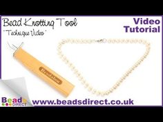 Learn how to knot in between pearls. This technique is used to protect genuine freshwater pearls from being damaged. Learn how to make a genuine pearl necklace http://www.youtube.com/watch?v=RB9EmY0AyOw