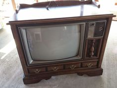 Even children of the '90s will remember this retro TV stand. Today's flat-screens don't really require such a bulky piece.    - GoodHousekeeping.com