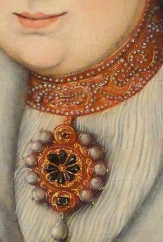 Lucas Cranach the Elder, German, Portrait of Magdalena of Saxony, Wife of Elector Joachim II of Brandenburg, c. Renaissance Jewelry, Medieval Jewelry, Medieval Clothing, Close Up Art, Lucas Cranach, Woman In Gold, Detailed Paintings, Art Ancien, Landsknecht