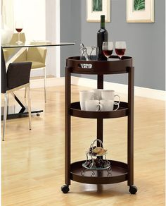 Pictured Here: Monarch Cappuccino Bar Cart With Serving Tray ($130)