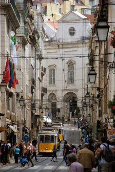 Rede de Eléctricos - Rua da Conceição - Lisbon - Lisboa - Portugal