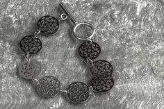 Gypsy fretwork coins stainless steel bracelet Stainless Steel Bracelet, Gypsy, Coins, Personalized Items, Trending Outfits, Unique Jewelry, Handmade Gifts, Bracelets, Vintage