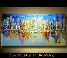 Abstract Wall PaintingOriginal Acrylic PaintingImpasto Thick
