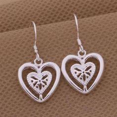 925 Sterling Silver All You Need Is Love Earrings