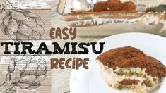 Easy Tiramisu Recipe without any whipping cream or additional sugar Easy Tiramisu Recipe, Whipped Cream, Channel, Sugar, Ethnic Recipes, Youtube, Food, Youtubers, Meals
