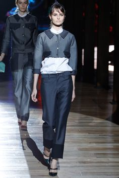 Marc Jacobs S12 short jacket, contrast collar and pockets