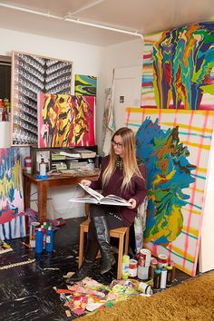 Tappan Collective artist Jenny Sharaf TappanCollective.com/Jenny-Sharaf #art #emergingartist #painting
