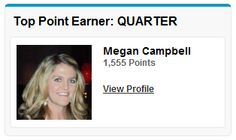 The Top Point Earner by quarter is displayed across our Salesforce instance. This feature provides an additional incentive as it gives the individual company-wide visibility.    http://www.bluewolf.com/press-releases/bluewolf-taps-bunchball-incentivize-culture-collaboration