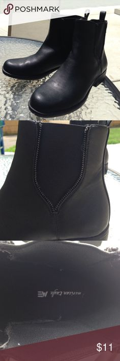 Size 9 American Eagle Boots Worn once. Size 9 Black. Great boots for your boot cut or flare jeans. Shoes Ankle Boots & Booties