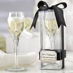 Champagne Flute Gel Candles by Beau-coup