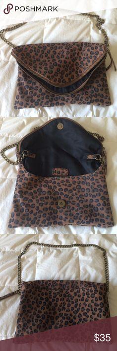 Jcrew Cheetah print purse Jcrew purse/clutch. Used once. Excellent condition. J. Crew Bags Clutches & Wristlets