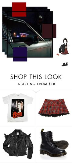 """""""sparkle like Bowie in the morning sun (Mavis)"""" by glass-tears ❤ liked on Polyvore featuring Ziggy, Forever 21 and Dr. Martens"""
