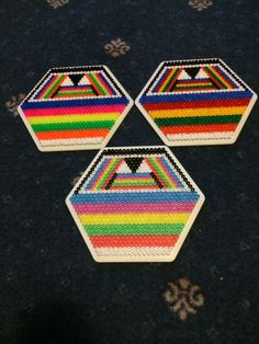 Hama beads hexagon 6
