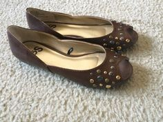 53aa38acb89 So Brown Flats Peep Toes Size 7.5  So  LoafersMoccasins  Casual