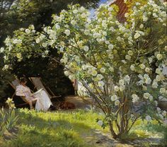 Peder-severin-kroyer-marie-en-el-jardin-reading - Peder Severin Krøyer - Wikipedia