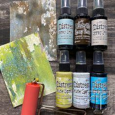Q+A demo: distress sprays Distress Ink Techniques, Art Techniques, Embossing Techniques, Watercolor Techniques, Alcohol Ink Crafts, Alcohol Ink Art, Tim Holtz Dies, Tim Holtz Distress Ink, Ranger Ink