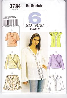 Six Easy to Sew Blouses with Princess Seams by TheGrannySquared