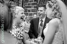 Bride and groom laughing outside Saint John Saint John, Laughing, Groom, Wedding Photography, Bride, Fashion, Wedding Bride, Moda, San Juan