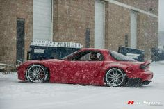 Beautiful RX7 in the snow shot