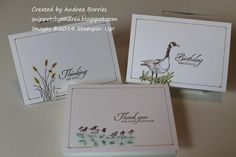 Single-layer Wetlands cards by andib_75 - Cards and Paper Crafts at Splitcoaststampers - nice and simple