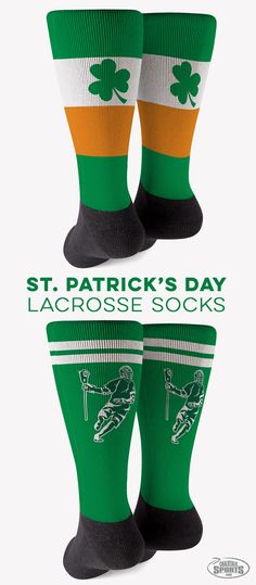These fun St. Patrick's Day lacrosse socks will be sure to bring you luck!