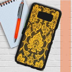 Gothic Black Gold Damask Pattern Samsung Galaxy S8 Plus Case Dewantary