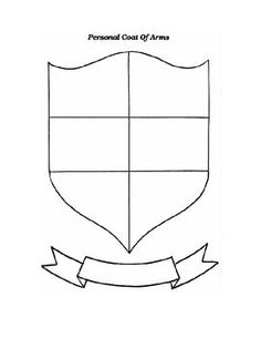 Personal coat of arms template education pinterest for Make your own coat of arms template