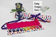 Easy DIY Crayon/Pencil Roll