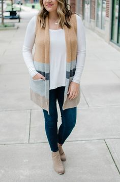 fall coats for women casual Sweater Vest Outfit, Long Sweater Vest, Vest Outfits, Fall Outfits, Summer Outfits, Cute Sweaters For Fall, Long Sweaters, Oversized Sweaters, Winter Sweaters
