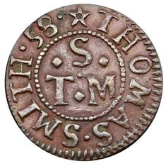 (Grocer), Farthing, 1658, in copper, 12h, m.m. voided mullet, (m.m.) THOMAS SMITH • 58 •, •T •S •M in centre,… / MAD on Collections - Browse and find over 10,000 categories of collectables from around the world - antiques, stamps, coins, memorabilia, art, bottles, jewellery, furniture, medals, toys and more at madoncollections.com. Free to view - Free to Register - Visit today. #Coins #Tokens #MADonCollections #MADonC