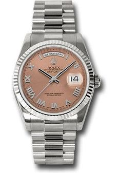 Rolex Watches: Day-Date President White Gold - Fluted Bezel - President 118239 crp