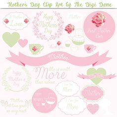 Digital Scrapbooking Elements/Clip Art: Mother's Day by digidame