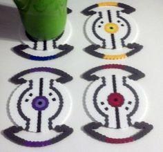Portal  perler bead coasters glados
