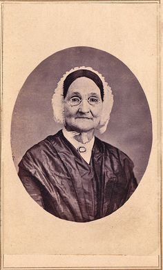 Granny with Mourning Brooch And Black Wig, Albument Carte de Visite with Tax Stamp, 1864-1866, via Flickr.