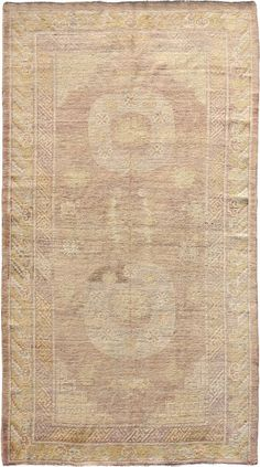 "ANTIQUE SAMARKAND Origin: EAST TURKESTAN Size: 4' 11"" x 8' 9"" Rug ID # 128"