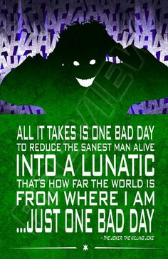The Joker quote. The Killing Joke. Injustice League. DC Comics