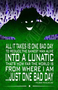The Joker quote. The Killing Joke. Injustice League. DC Comics