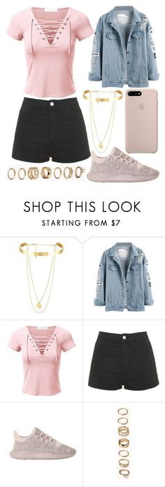 """288."" by plaraa on Polyvore featuring Topshop, adidas and Forever 21"