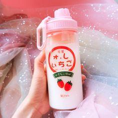 Cute Water Bottles, Glass Bottles, Drink Bottles, Watermelon Water, Water Tumbler, Cute Strawberry, Heat Resistant Glass, Water Glass, Kawaii Shop