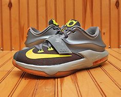 best authentic 07c0d b3b8a 2014 Nike KD VII 7 Size 4.5Y - Black Graphite Citrus Grey - 669942 402