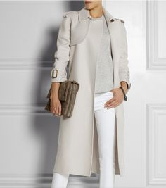 Bottega Veneta cashmere trench...beyond gorgeous.