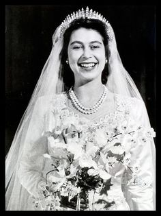 The Hanover Russian Fringe Tiara The Queen wore this tiara at her wedding.