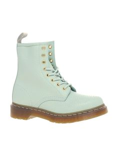 Dr. Martens in a fun mint green color.