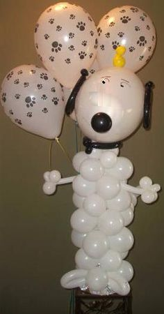 Balloon Dog so cute! We sell the paw print balloons!