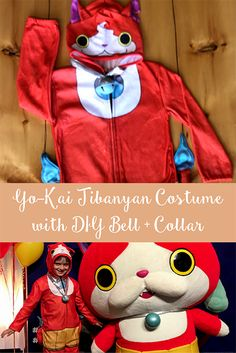 TheInspiredHome.org // Yo-Kai Jibanyan Costume with DIY Bell & Collar. How to make your very own Jibanyan costume or custom costume with help from our friends at FeeFiFoFun.ca.