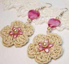 crochet earrings Inspiracion ✿⊱╮Teresa Restegui http://www.pinterest.com/teretegui/✿⊱╮